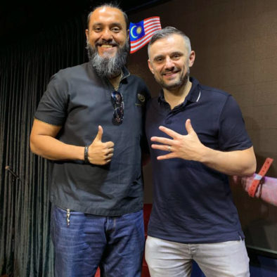Teacher Raj meets with Gary Vaynerchuck at a private session in kuala lumpur